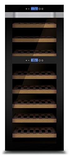 CASO WineComfort Touch A one Design Weinkühlschrank für bis zu 44 Flaschen (bis zu 310 mm Höhe),...