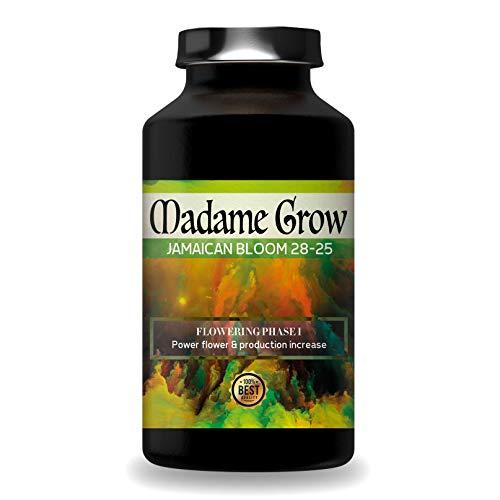 MADAME GROW / Blumendünger, Cannabis dünger Marijuana Jamaican Bloom 28-25 -SUPERCONCENTRATE aus Phosphor und Kalium Plus Molybdän - Stimuliert die Blüte