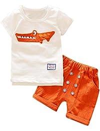 d66cacb45 Conjunto Bebé Verano ❤ Amlaiworld Recién Nacido Infantil Bebé Niño Niña  Dibujos Animados Tops Camisas Camiseta Chaleco y…