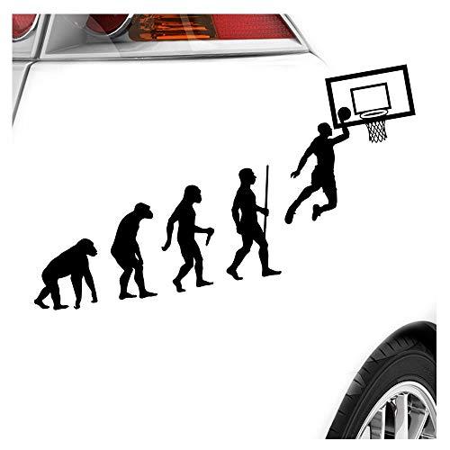 Aufkleber Basketball (Kiwistar Basketball Spiel Evolution Aufkleber Sticker 25 Farben Neon Matt)