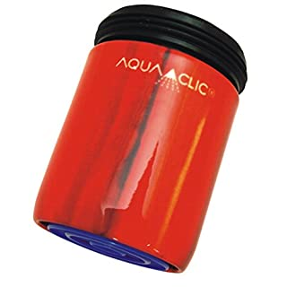 AquaClic Spar-Strahlregler aus Messing, 6l/min, fülliger Strahl, verkalkungsarm (Tahiti)