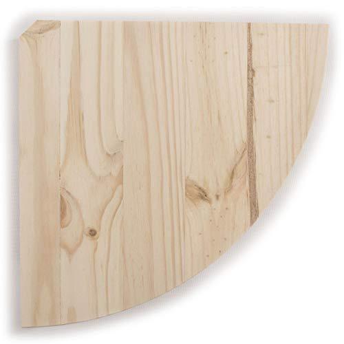 WooDeeDoo Étagère d'angle en Bois Naturel / 3 Tailles/Pin Flottant Étagère Murale