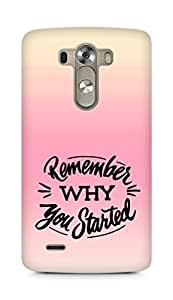 AMEZ remember why you started Back Cover For LG G3