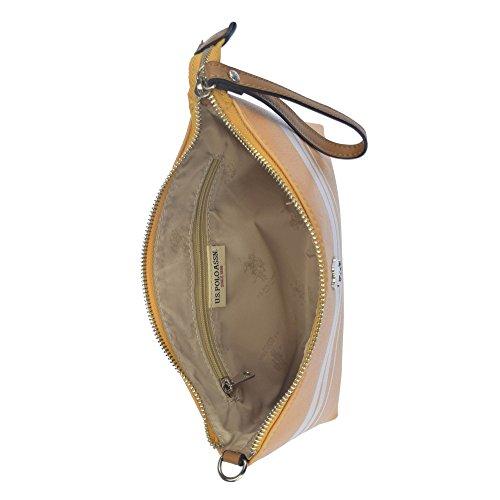 U.S.POLO ASSN. Borsa pochette con tracolla 26.5x3x17.5 cm Giallo - Bianco