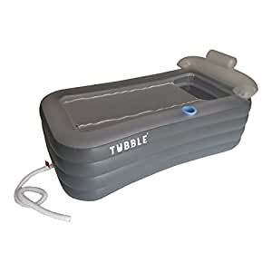 Tubble inflatable bathtub adult size portable home spa for Most comfortable tub reviews
