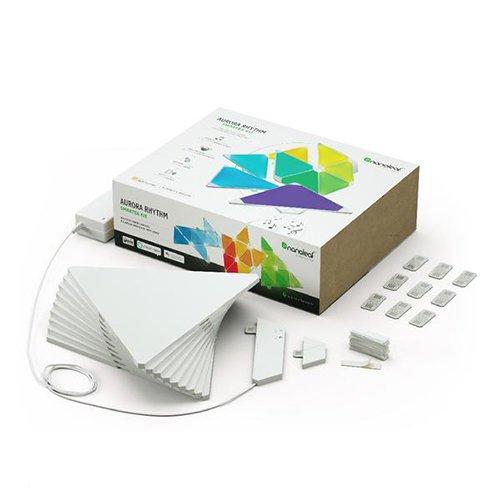 nanoleaf Light Panels (Aurora) Rhythm Starter Kit – 9x Modulare Smarte LED & Sound Modul – Lichtpanels mit App Steuerung - 2