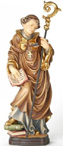Demi Art - Heiligenfigur Hl. Rudolf mit Pfeil in der Brust aus Berg-Ahorn Holz geschnitzt und von Hand bemalt, 36 cm (Pfeil Krippe)