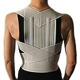 CORRECTOR DE POSTURA CON VARILLAS -Gris, M (76-86 cm.)- Faja Cinturón Postural Soporte para Espalda y Hombros - UNISEXO