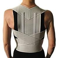 CORRECTOR DE POSTURA CON VARILLAS -Gris, M (76-86 cm.)- Faja Cinturón Postural Soporte para Espalda y Hombros - UNISEXO Para Hombres y Mujeres