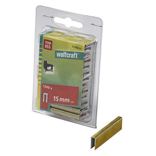 Wolfcraft 7166000 7166000-1200 Grapas Lomo Estrecho