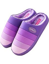 Eagsouni® Zapatillas Interiores de Felpa cálidas Mujer Otoño/Invierno Suave Felpa Zapatillas Inicio Antideslizante