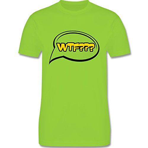 Comic Shirts - WTF - What the fuck Sprechblase - Herren Premium T-Shirt Hellgrün