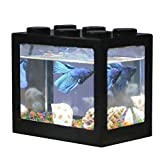 Hosss Mini Aquarium LED pour Aquarium Bettas avec Chargeur USB pour Aquarium