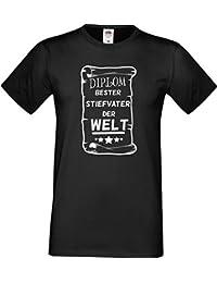Männer T-Shirt Diplom Bester Stiefvater der Welt