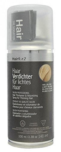 Hairfor2 Haarverdichter Spray, hellblond, 1er Pack, (1x 100 ml)