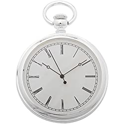 1St. Bulily Men Pocket watch silver AP-OTA-045