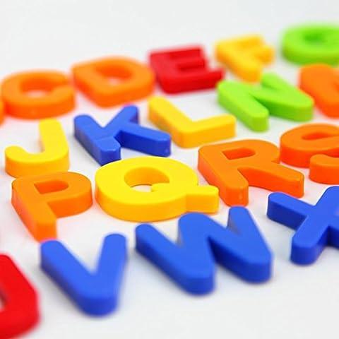 MAGTIMES Juguetes Didácticos MAGTIMES, Letras y números magnéticos para niños, educando niños con diversión, innovando la mente de los bebés, 80 piezas en una caja