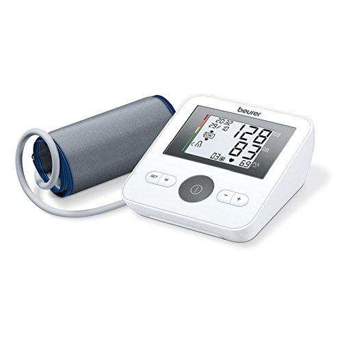 Erwachsene, Blutdruckmesser (Beurer BM 27 Oberarm-Blutdruckmessgerät, Universalmanschette, auch für große Oberarme)