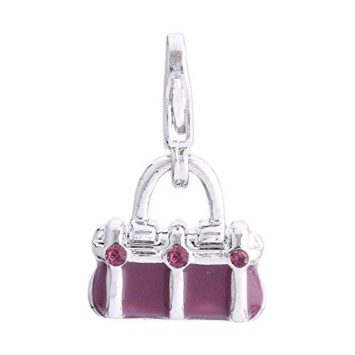 Morella lila Charms Anhänger Handtasche veredelt mit Zirkoniasteinen (Lila Fossil Handtaschen)