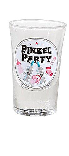 Mädchen, 1 Stück Schnapsglas Pinkel-Party rosa ()