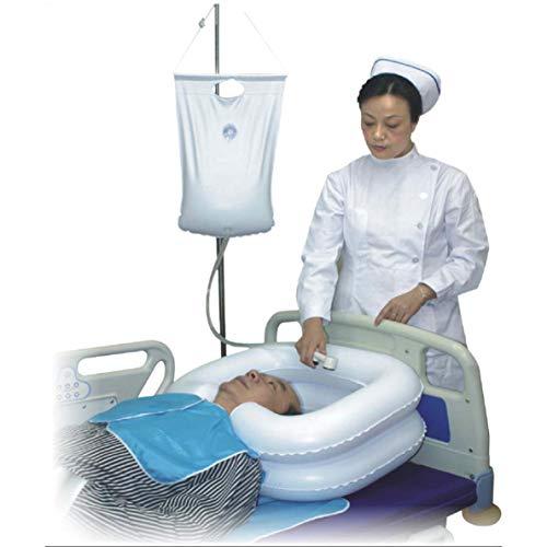 MZP Aufblasbares Shampoobassin-Kit, Duschsystem am Bett für behinderte und ältere Patienten Easy, Schwangerschaft, bettlägerige oder postoperative Patienten, bettlägerige Patienten