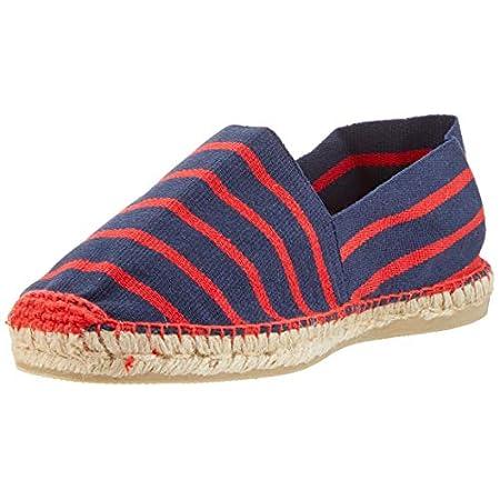weltenmann Klassische Gestreifte Herren Slip-on Espadrilles aus Baumwolle mit Schuhbeutel, 41-46, Handmade in Spain