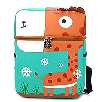 Kampre Cartoon Kids Backpack School Backpack Giraffe Kids School Bag Leisure Backpack for Books, Stationery, Toys