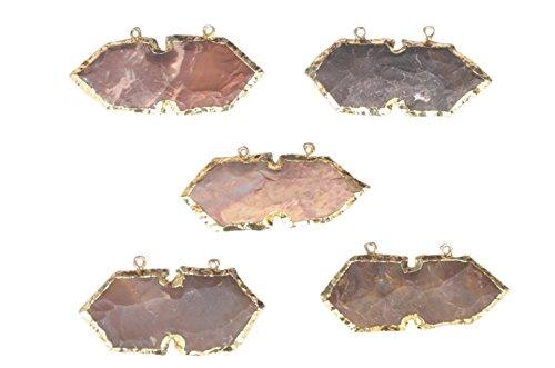 Punta di freccia ciondolo oro strato Fashion charm ciondolo placcato oro 18K Arrowhead (Oro 10 Stone)