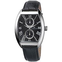 Thomas Earnshaw ES-8004-01 - Reloj para hombre con esfera analógica de color negro y correa de cuero negra