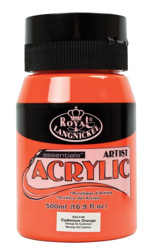 Royal & Langnickel RAA-5109 - Essentials 500 ml Acrylfarbe, kadmiumorange