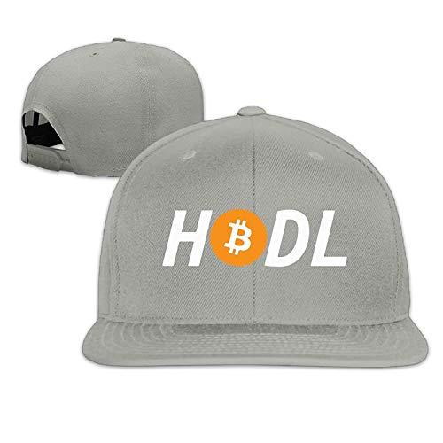 ghkfgkfgk Love&Cap HODL Bitcoin Snapback Caps, Adjustable Hip-Hop Flat Bill Baseball Cap Unisex (Distressed Leather Flat Cap)