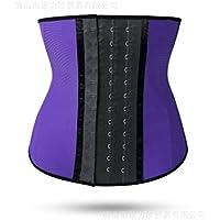 HL-latex Shapewear hebilla cinturón abdominal corte incluye un shapewear,Violeta,XL