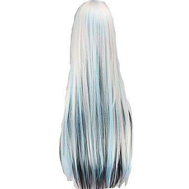 Meylee Perücken DFGHBB billig 100CM Cosplay Perücken Produkte lange gerade Kunsthaar Perücken , multicolor Lange Turner