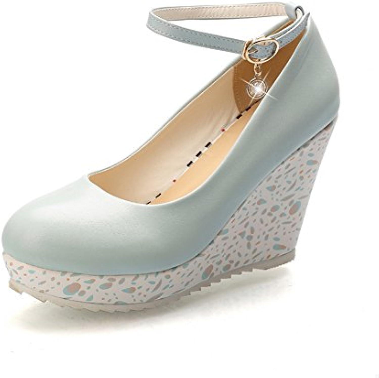 Sconosciuto 1TO9 Scarpe Col Tacco Donna Blu (blu), 36 EU, MMS02704 | Materiali selezionati  | Scolaro/Ragazze Scarpa