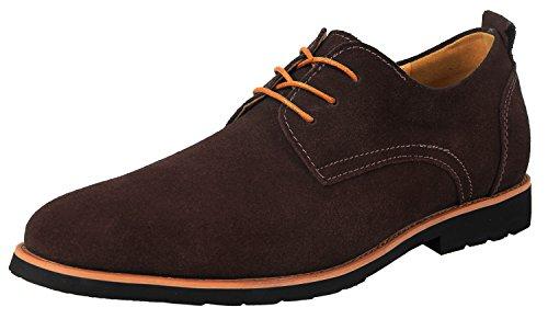 iLoveSIA Zapatos Cuero Casual de Hombre y Zapato Cordon Oxfords para Hombre Talla EU43(Etiqueta44) Marrón Nuevo OiqBIZz