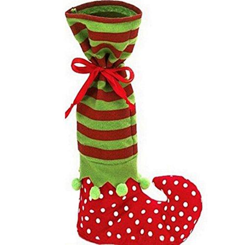 Serviette Kostüm Mann (Sunnywill 1 Stk Weihnachten Dekorationen Socken Elfen Süßigkeiten Taschen Weihnachten Geschenk Taschen für)