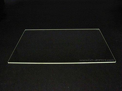 150mm x 230mm Borosil Glas Teller/Bett W/flach poliert Rand für Flashforge Creator & MakerBot Replicator 3D Drucker Rand Teller