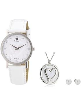 Time Piece Damen-Armbanduhr XS Time Piece Set Analog Quarz Kunstleder TPLA-90742-SET
