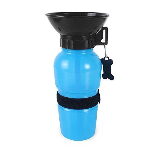 Hunde Wasserflasche Trinkflasche für Hunde Trinknapf Wassernapf Reiseflasche Wasserspender optimal für Unterwegs Gassi-Gehen Auto-Fahrt Camping Reise