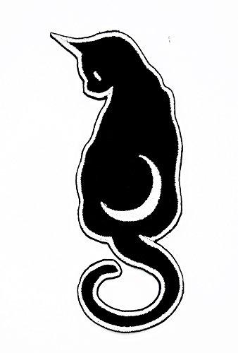 Halloween Crescent Moon Cartoon Kinder Patch für Heimwerker-Applikation Eisen auf Patch T Shirt Patch Sew Iron on gesticktes Badge Schild Kostüm (Reißen Sie Diese Halloween Kostüm)