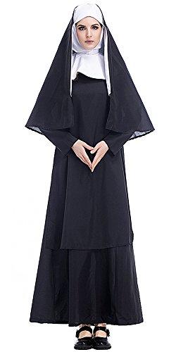 BOZEVON Donne Costume con Copricapo Vestito abito Sorella Halloween Costume Cosplay