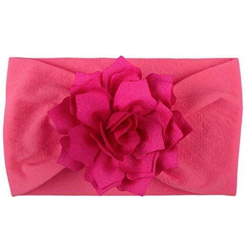 erthome Mädchen-Baby-Kleinkind-Turban-festes Stirnband-Haarband-Blumen-Zusatz-Kopfbedeckung