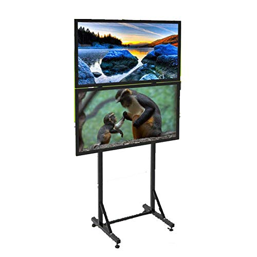 HANG Universal TV Wagen, TV-Ständer für 32-60 Zoll LCD-LED-Fernseher 360 ° Schwenk Mit Rädern Mobil Rotelle A Ferro Di Cavallo Möbel Flat Panel TV Stand and Entertainment Console,A -