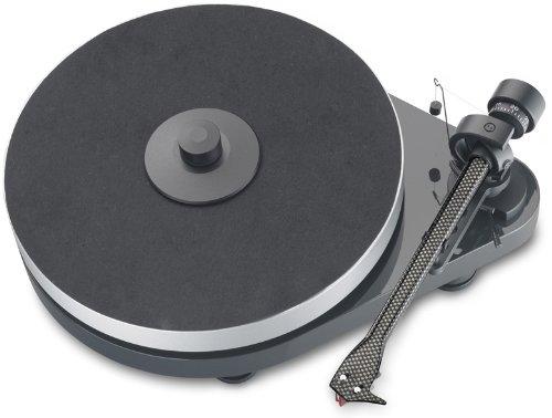 Pro-Ject RPM 5.1 Plattenspieler (Tonabnehmer Ortofon 2M Red) pianolack anthrazit/grau