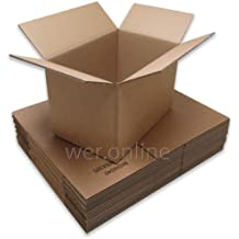 """15 x WER Strong Removal Packing Storage Mailing Cartons - Double Wall Cardboard Boxes - 18 x 12 x 12"""" / 457 x 305 x 305mm"""