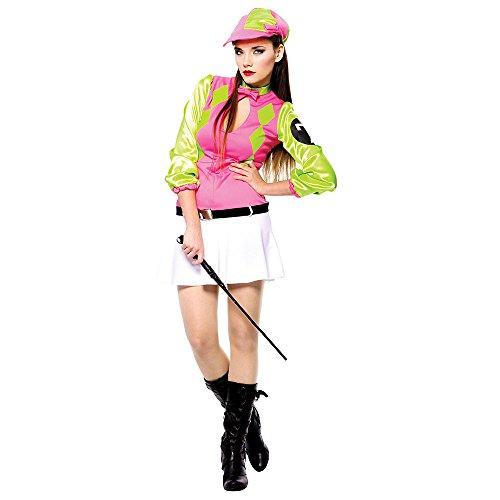 3Sexy Female Jockey Kostüm, Mittel (Jockey Kostüm Mit Pferd)