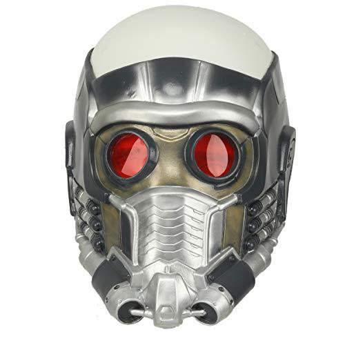 DealTrade Halloween Lord Maske Herren Latex Voller Kopf Helm mit Roten Augen Cosplay Kostüm Replik Fancy Dress Costume Waren ()