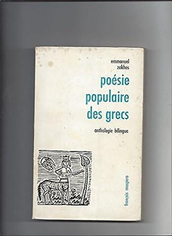 POESIE POPULAIRE DES GRECS. ANTHOLOGIE