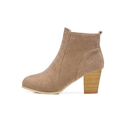 TianWlio Boots Stiefel Schuhe Stiefeletten Frauen Herbst Winter Stiefel mit High Heels Stiefel Schuhe Stiefel Knöchel Weihnachten Khaki 38