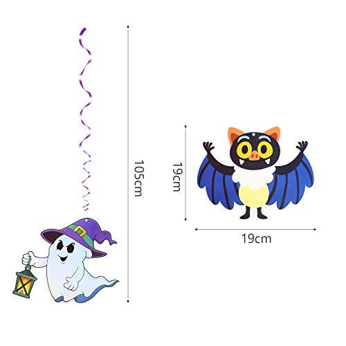 TAZEMAT 24 Set Hängende Wirbel Dekoration Spiral Girlanden Halloween dekorative Karikatur Wirbel Deko Party Verzierung Spinne Kürbis für Hallowen Geburtstagskarneval Klassenzimmer - 7